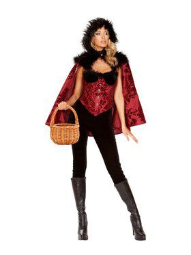 Womens Sassy Little Dark Red Costume