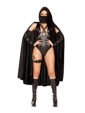 Womens Sassy Ninja Villian Costume