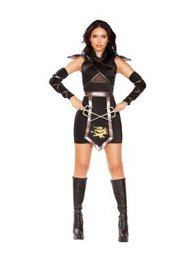 Womens Sassy Ninja Warrior Costume