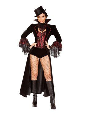 Womens Sassy The Lusty Vampire Costume