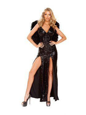 Womens Sassy Wicked Dark Angel Costume