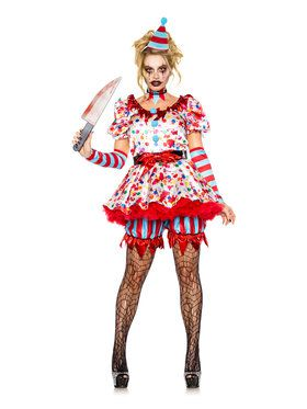 Scary Clown Womens Costume