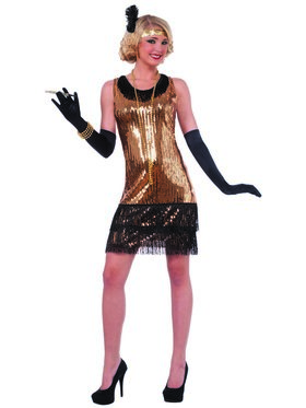 Ritzy Glitzy Sequin Flapper Costume for Women