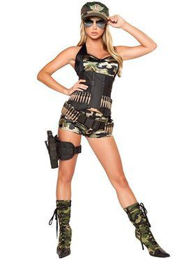 Womens Sexy Army Baby Deluxe Costume