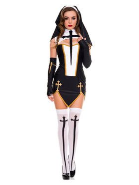 Women's Sexy Bad Habit Nun Costume