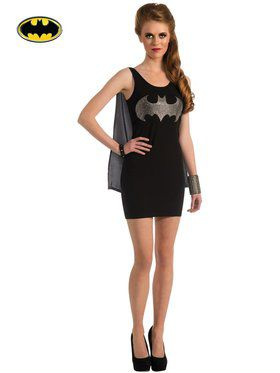 DC Sexy Batgirl Womens Rhinestone Tank Dress