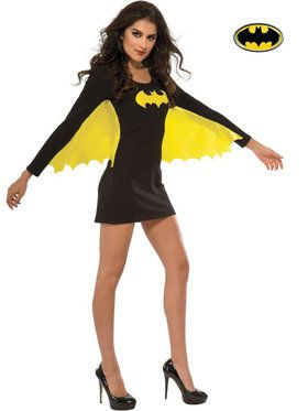 Women's Sexy Batgirl Wing Dress Costume