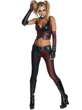 Harley Quinn Batman Arkham City Sexy Adult Costume