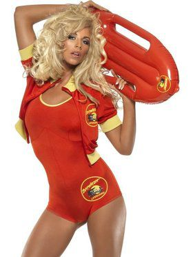 Womens Sexy Baywatch Lifeguard Costume