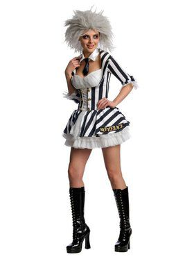 Womens Sexy Beetlejuice Costume