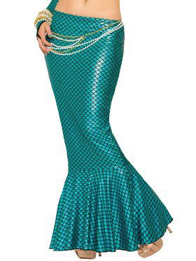 Women's Sexy Blue Mermaid Skirt Costume