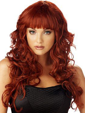 Womens Sexy Burgundy Impulse Wig