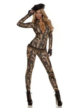 Sexy Charming Cadet Catsuit Cost for Women