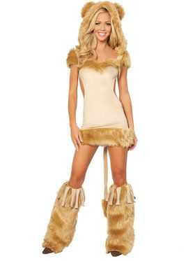 Womens Sexy Courageous Lion Costume