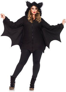 Women's Sexy Cozy Bat Plus Costume