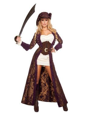 Sexy Decadent Womens Pirate Diva Costume
