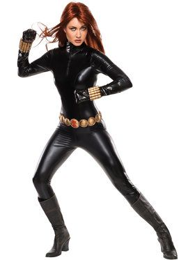 Women's Sexy Deluxe Black Widow Costume