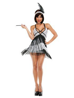 Sexy Deluxe Boardwalk Flapper Costume