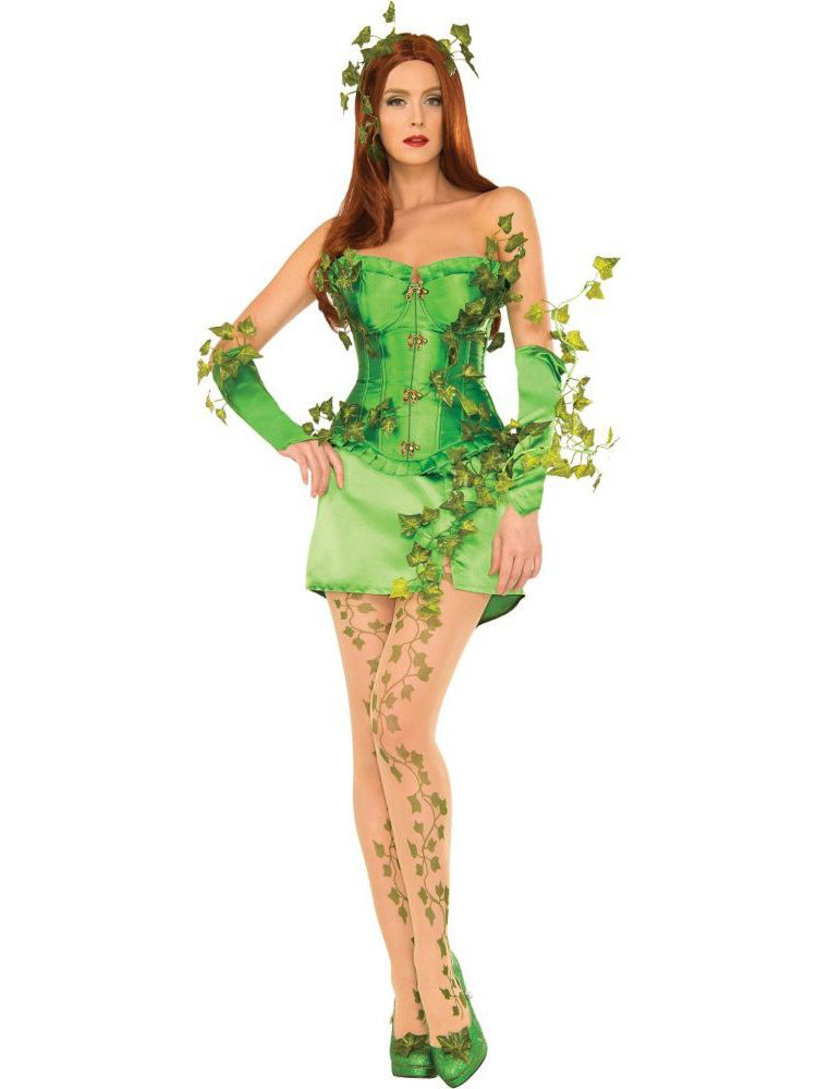 Deluxe Womens Sexy Poison Ivy Costume - Adult 2018 -6518