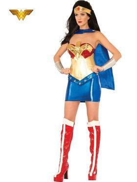 Women's Sexy Deluxe Wonder Woman Costume