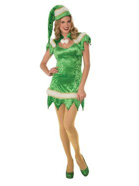 Women's Sexy Green Elf Dress