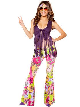 Women's Sexy Hippie Lover Costume