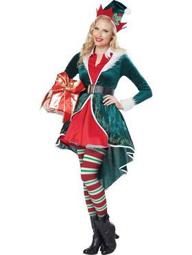 Womens Sexy Holly Elf Costume