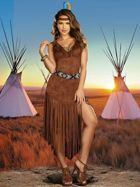 Womens Sexy Hot On The Trail Native Ame