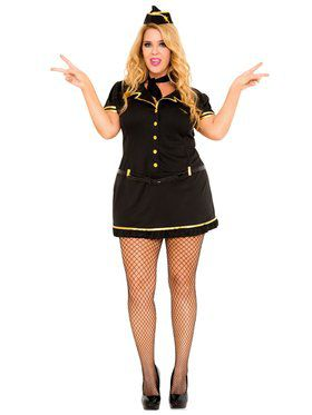 Mile High Club Stewardess Plus Size