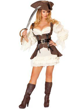 Womens Sexy Naughty Ship Wench Costume