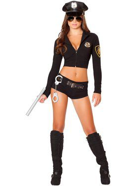 Womens Sexy Officer Hottie Costume