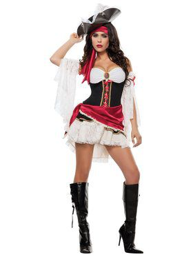 Sexy Womens Pirate Playmate Costume