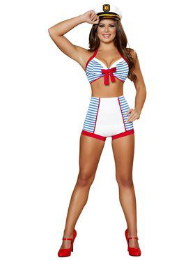 Womens Sexy Playful Pinup Sailor Costum