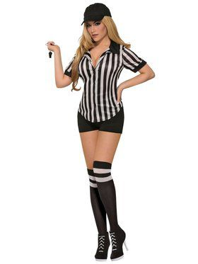 Womens Sexy Referee Shirt-Female Costume
