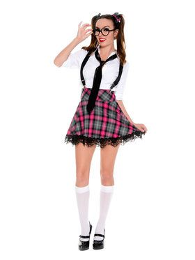 Women's Sexy School Girl High Class Nerd