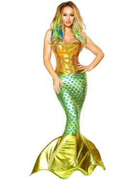 Sexy Siren of the Sea Mermaid Womens Costume