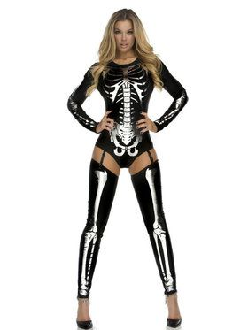 Women's Sexy Snazzy Skeleton Costume