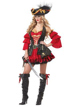 Womens Sexy Spanish Pirate Costume