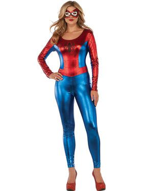 Sexy Spider-Girl Catsuit Costume for Adults