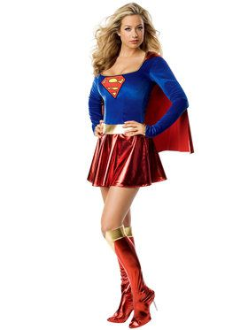 Womens Sexy Superman Supergirl Costume