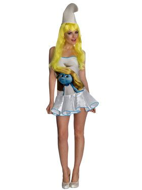 Womens Sexy The Smurfs Smurfette Dress