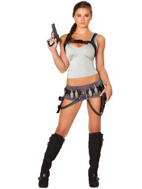 Womens Sexy Treasure Huntress Costume