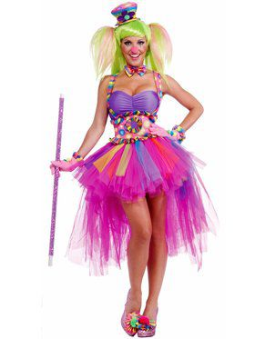 Womens Sexy Tutu Lulu The Clown Costume