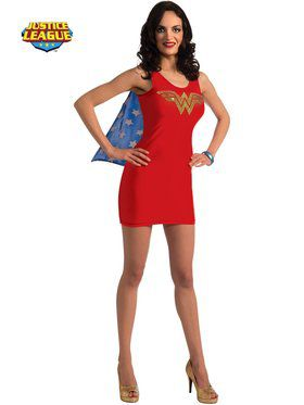 DC Sexy Wonder Woman Rhinestone Tank Dress
