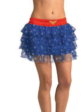 Womens Sexy Wonder Woman Sequin Skirt C