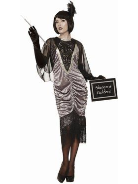 Silent Movie Flapper Womens Costume