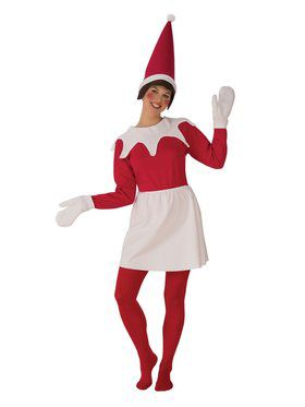 Womens Sitting Elf Costume