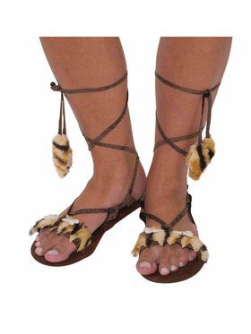 Womens Stone Age Style Sandals