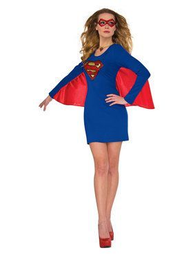 Womens Supergirl Cape Dress with Wing