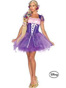 Womens Tangled Princess Rapunzel Costum